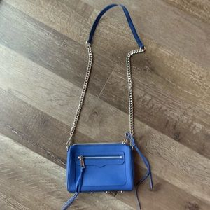 Blue Rebecca Minkoff 'Avery textured leather' Bag